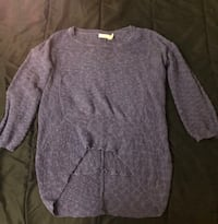 Purple knitted long sleeve shirt Port Coquitlam, V3C