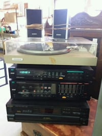 6pc  vintage working stereo system