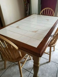rectangular brown wooden table with chairs Mission, 78573