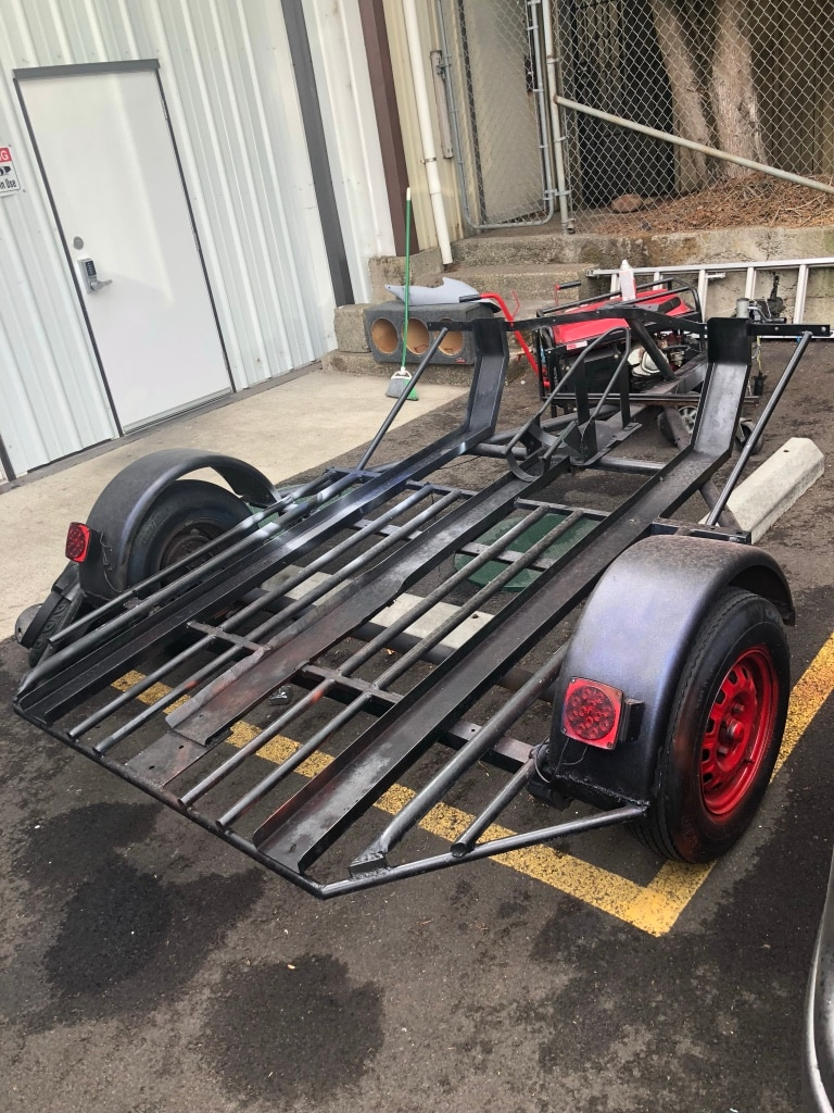 black and red utility trailer for sale  Portland