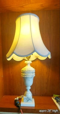 Marble? table lamp
