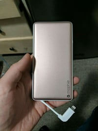 Pink mophie portable battery charger