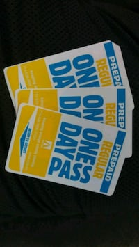 3 one day passes Santa Ana, 92705