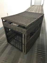 Brand new grey wicker pet cage