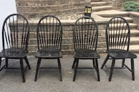 Black dining room chairs. All four for$20 Silver Spring, 20903