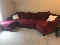 Red Sectional Sofa Richmond Hill, 31324