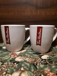 Tim Hortons limited edition mugs.  Whitby, L1P 1A2