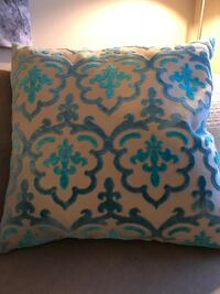 Large grey blue and teal throw pillow Edmonton, T5T