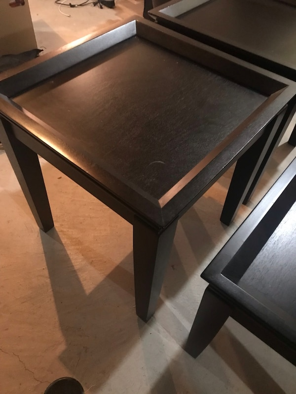 Black coffee table with 2 side tables 3