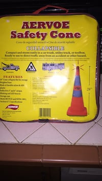New aervoe safety cone  2291 mi