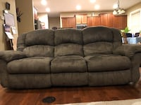 Forest Green Recliner Couch