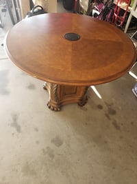 "48"" Round Wooden Table with Device Power"