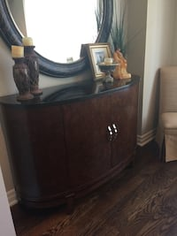 Curio hutch and table