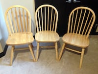 Solid Oak Chairs (3).  Calgary