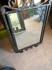 Metal framed mirror. Heavy. Good condition  Houghton, 52630