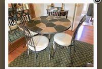 Metal and slate table with 4 matching chairs Potomac, 20854