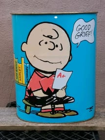 Peanuts trash can - 1969.