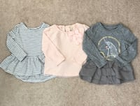 3 baby girl tops size 12-18 months Mississauga, L5M 0C5
