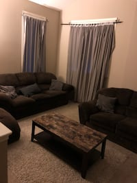 TOTAL LIVING ROOM! Couch Chaise Love seat Coffee table and area rug!! Calgary, T2H 2L7