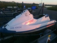 white and blue personal watercraft Toronto, M1L 3Y8