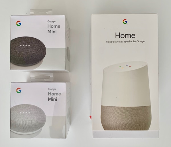 Google Home with 2 Google Home Minis