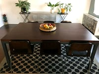 Solid Cherrywood table with 6 chairs Rockville
