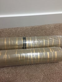 Three roll wallpaper (size of the roll 0.53*10.0m )Tow of this brown brown gold and one its brown .