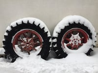 vintage tractor rims and tires.  Barrie, L4N 3G1