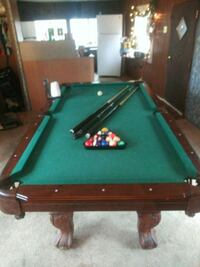 green and brown pool table Hodges, 29653