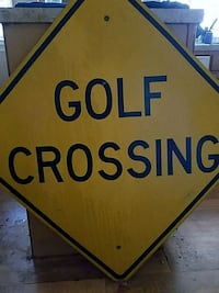 Golf Crossing sign, metal  Charleston, 29414