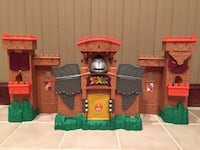 children's brown and green plastic castle playset 30 km