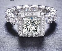 Platinum plated silver   5.6 CT White Zircon Silver Color Engagement  Rings wedding Rings Party Rings Mississauga, L5J 2B9