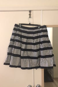 Knee-length navy blue and white skirt from Talbots - size 16 Arlington, 22201