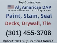 Paint contractor- tile work, deck construction, contracting Linganore