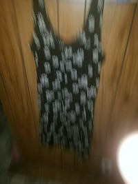 black and white sleeveless dress Golden Valley, 86413
