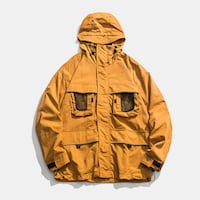 URBANOZ UNDERWAVE MULTI POCKET WINDBREAKER JACKET