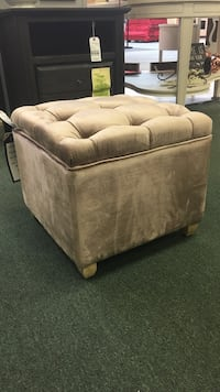 Eau Claire Mink Light Brown Storage Cube Ottoman Heath, 43056
