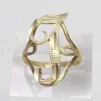"10kt GOLD INITIAL RING - ""J"" Salem, 03079"