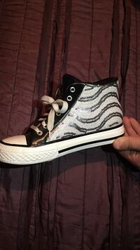 white-and-black Converse high top sneakers piggy bank  137 mi