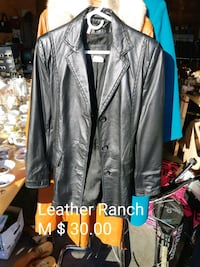 gray leather button-up jacket Dufresne, R0A 0J0