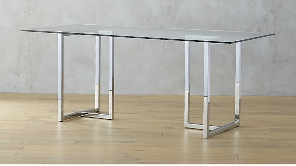 Used CB Silverado Glass Dining Room Table For Sale In Yorba - Cb2 dining room table