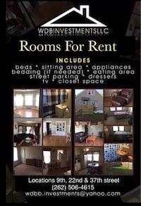 ROOM For rent 1BR Milwaukee, 53202