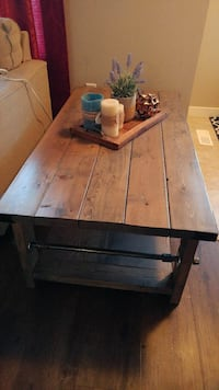 Rustic with Industrial Accent coffee table