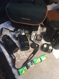 Immaculate Nikon F55 SLR 35mm film camera bundle with three lenses! This is a pro set up! Ottawa, K1H 6G8