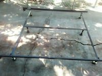 king/queen size metal bed frame in excellent condition Austin