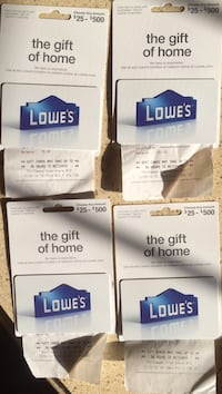 Four lowe's gift cards
