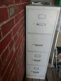 white metal 4-drawer filing cabinet Baltimore, 21205