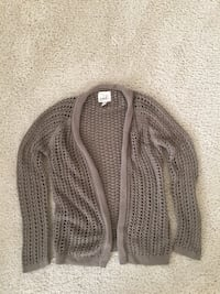 Brown knitted cardigan!