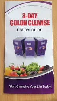 3-day colon cleanse. Retails for 144.00 USA plus shipping.