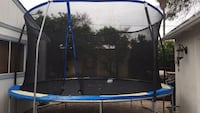 black and blue trampoline with enclosure Anaheim